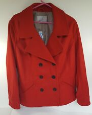 Old Navy Woman's Coat Red With Tags Size Extra Large 70% Wool 30% Nylon Lined