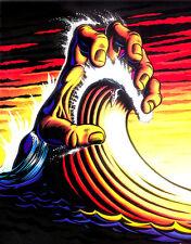 "3.25"" SANTA CRUZ Roskopp Hand surfing sticker. California surfboard skateboard"