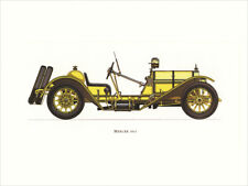 Canvas Print Vintage Car Poster Illustration - Mercer 1913 Vintage Car