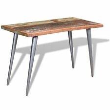 Kitchen Dining Table Solid Reclaimed Wood Wooden Handmade Tables Steel Legs