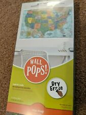 Wall Pops Usa Map Dry Erase Peel, Stick and Move 2'x3' Wall Decal - New