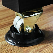 More details for 4x home black plastic non-slip piano caster cups piano foot protection pads ca