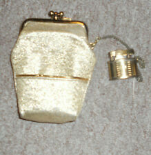 Vintage Gold women's cigarette case  w/Pereline Brass Automatic Trench Lighter