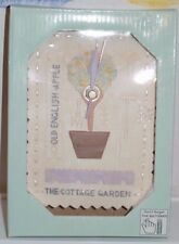 """NEW IN BOX 6"""" Garden Table Wall Clock THE COTTAGE GARDEN OLD ENGLISH APPLE"""