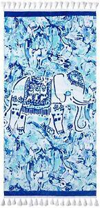 NWT  Lilly Pulitzer Beach Towel Elephant Appeal Print 32 x 64