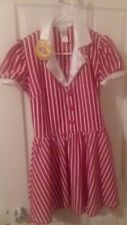 Dreamgirl 1950's Red & White Stripped Waitress Costume Halloween size Woman's Sm