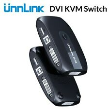 2X1 Dvi Kvm Switch Box Selector Dvi Switch 2 In 1 Out Sharing Usb 2.0 Monitor