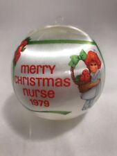 1979 Nurse Christmas ornament satin ball bulb Hummelwerk Hummel Xmas vtg nurses
