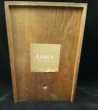 Ling's Moment Table Numbers Wedding Wood Numbers 1-15 w/Holders In Wood Box NOS