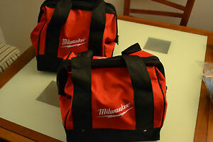 "2 New 11"" x 9"" x 7"" Milwaukee Heavy Duty Tool bag for M12 M18 2 tool 12v 18v"