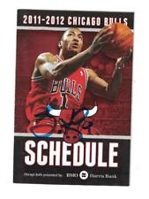 Derrick Rose Signed Autographed 2011 12 Chicago Bulls Pocket Schedule