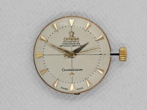 50's Omega Constellation Aut Movement 505 Pie Pan Dial for Parts or Restore
