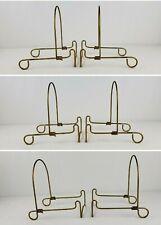 Vintage Twisted Wire Easel  Display Holder Plate Picture Frame (2) ADJUSTABLE !