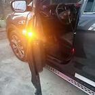 2pcs Amber Car Door Prevent Rear Vehicle Pedestrian Rear Collision Warning Light