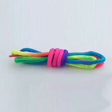 Hotsale 1Pair Rainbow Multi-Color Round Sport Shoe Lace Unisex SneakerShoelaces.