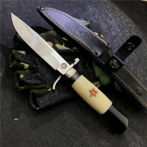 Fix Blade Russian Finka KGB Survival Hunting Bowie Knives Out door camping Knife