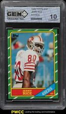 1986 Topps Football Jerry Rice ROOKIE RC #161 GEM 10