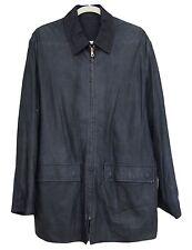 BALLY Mens Jacket  Leather Reversible Blue Size 40