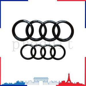 Avant Arrière Emblème pour AUDI A1 A3 A4 A5 A6 Logo Noir Badge Calandre Satz