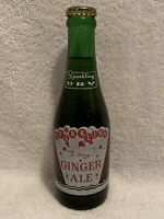 FULL 7oz SPARKLING DRY GINGER ALE ACL SODA BOTTLE COCA-COLA PRODUCT