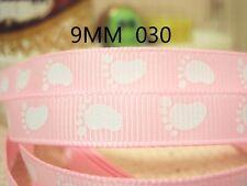 """Baby IMPRONTA Pink Ribbon 3/8"""" vasta 2m è solo £ 0.99 Nuovo Venditore Regno Unito"""