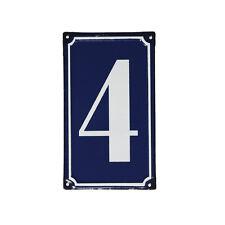 dotcomgiftshop 4 French Blue Metal Door Sign