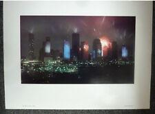 1 BEAUTIFUL  JEAN-MICHEL JARRE LIGHT SHOW POSTER Rendez-Vous Houston Skyline