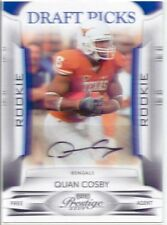 quan cosby rc rookie auto autograph texas longhorns college #/499