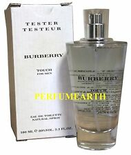 BURBERRY TOUCH BY BURBERRY 3.3/3.4oz. EDT SPRAY TSTR FOR MEN NEW IN TSTR BOX