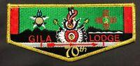 NEW! GILA OA LODGE 378 BSA YUCCA COUNCIL TEXAS 70TH ANNIV GMY VIGIL FLAP TOUGH!!