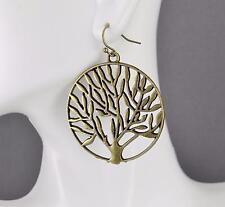 "Tree of Life earrings dangle lightweight big large pendant earrings 2"" long"