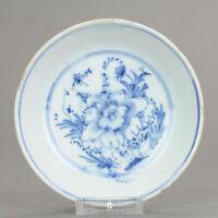 Antique Chinese Porcelain Tianqi / Chongzhen 16/17th c Ming Peony Plate ...