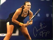 Martina Hingis Signed 11x14 Tennis Photo PSA/DNA COA Grand Slam Singles #1 World