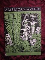 AMERICAN ARTIST February 1947 C B Falls Darrel Austin John Alan Maxwell