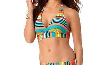 590bcc4f5d4 Anne Cole Tropication Marilyn Banded Halter Bikini Top X-small