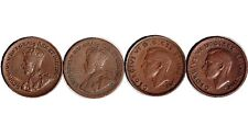 1932 1933 1937 1943 Canada One Cent Lot Of 4 Coins