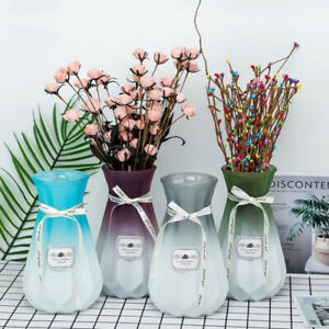 NEW Rome Retro Glass Vase Frosted Art Decorative Flower Vases Home Office Décor