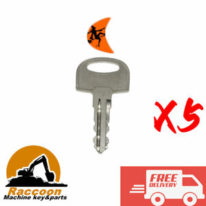 5pcs Ditch Witch Trencher Key 701 JT-RT-FXSX-MR COLE HERSEE 83451-601 105-1790
