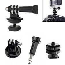 1/4'' Hot Shoe Adaptor + Tripod Mount + Screw For GoPro Hero 2 3 3+ DSLR Cameras