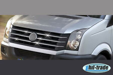 VW Crafter Facelift Chrom Kühler Grill Leisten 6tlg Edelstahl ab 06.2011>