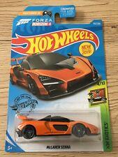 Hot Wheels Long Card 162/250 McLaren Senna orange forza