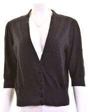 MONSOON Womens Cardigan Sweater UK 16 Large Black  BG01