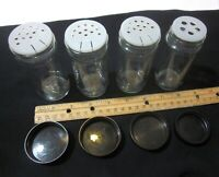 """4 Count Clear Glass Spice Jars Round 4"""" Tall"""