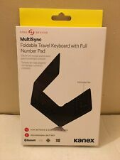 KANEX MULTISYNC FOLDABLE TRAVEL KEYBOARD WITH FULL NUMBER PAD BLUTOOTH IOS