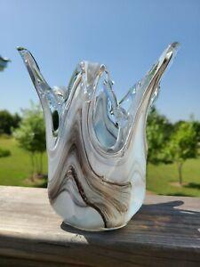 Art Glass Vase Murano Style Tammaro Made in Italy
