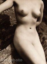 1940 Original FEMALE NUDE Woman Outdoors England Photo Art Deco By JOHN EVERARD