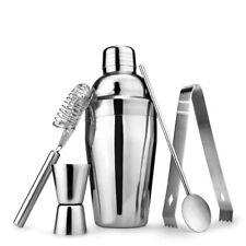 5Pcs/Set Cocktail Shaker Mixer Drink Stainless Steel Bartender DIY Tools Kit