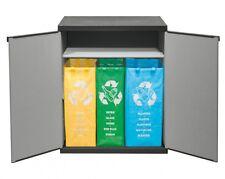 Gartenschrank Kunststoffschrank Müllbox Gartenbox Mülleimer Mülltrenner Säcke