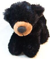 """Aurora SOFT BLACK TEDDY BEAR 6"""" Plush STUFFED ANIMAL Toy"""