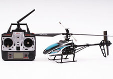 Radio Control RC Model Helicopter Blue F46 2.4GHz w/ Gyro Ready To Fly New UK 08